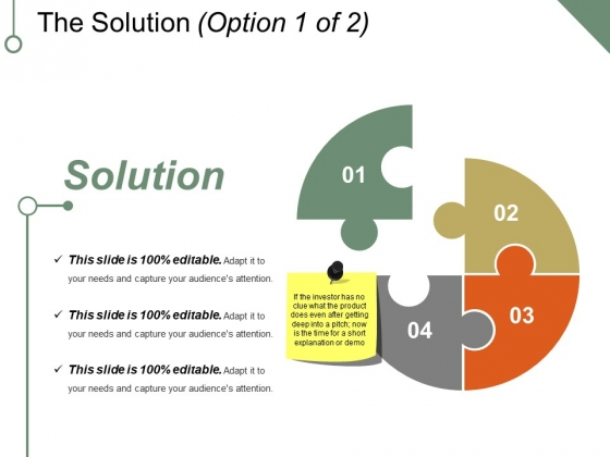 The Solution Template 1 Ppt PowerPoint Presentation File Backgrounds