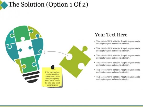 The Solution Template 1 Ppt PowerPoint Presentation File Formats