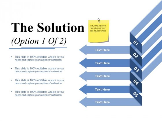 The Solution Template 1 Ppt PowerPoint Presentation Gallery Guidelines
