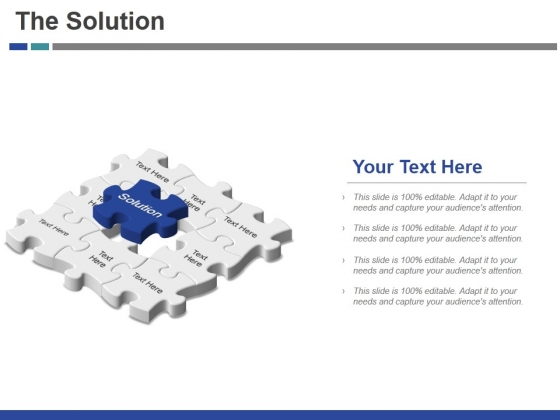 The Solution Template 1 Ppt PowerPoint Presentation Inspiration Slide Download