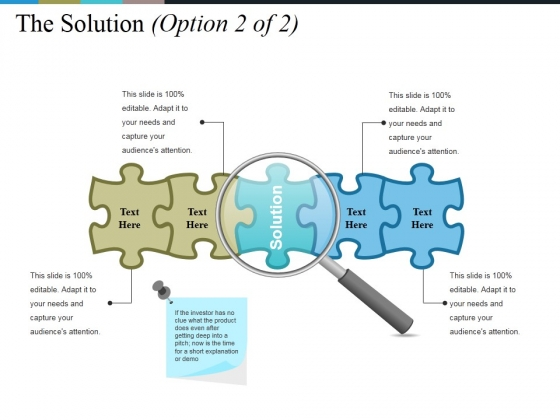 The Solution Template 1 Ppt PowerPoint Presentation Summary Show