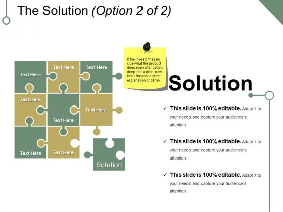 The Solution Template 2 Ppt PowerPoint Presentation Infographics Maker