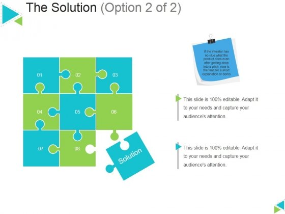 The Solution Template 2 Ppt PowerPoint Presentation Outline Example
