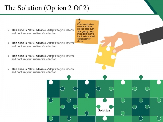 The Solution Template 2 Ppt PowerPoint Presentation Pictures Clipart