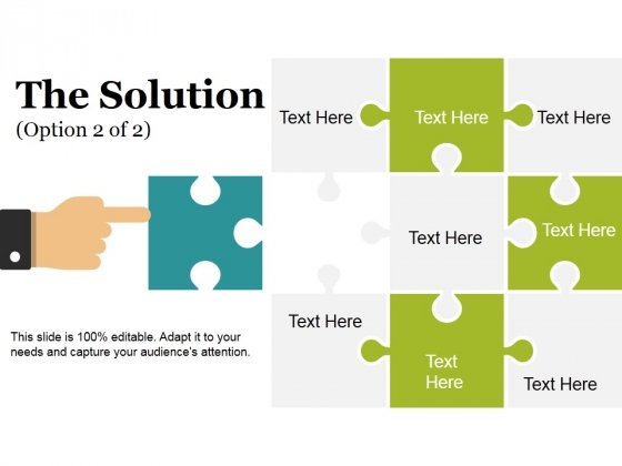 The Solution Template 2 Ppt PowerPoint Presentation Professional Designs