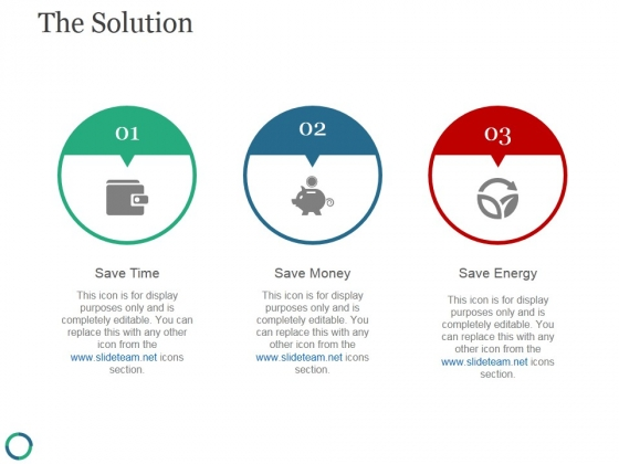 The Solution Template 3 Ppt PowerPoint Presentation Infographic Template