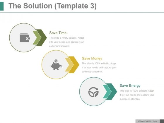 The Solution Template 3 Ppt PowerPoint Presentation Inspiration