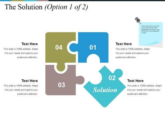 The Solution Template Ppt PowerPoint Presentation File Layout