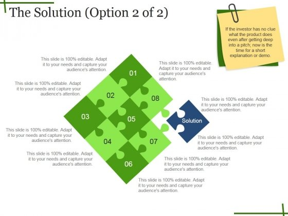 The Solution Template Ppt PowerPoint Presentation Gallery Demonstration