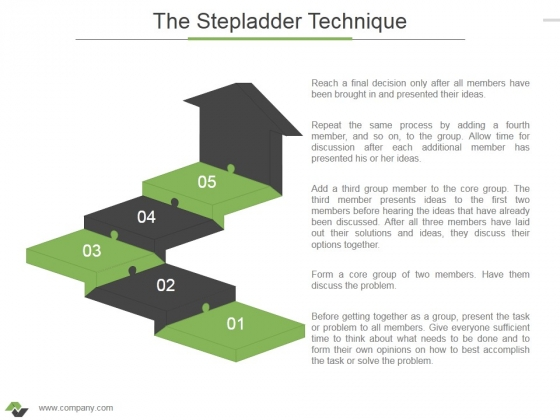 The Stepladder Technique Ppt PowerPoint Presentation Inspiration Visual Aids