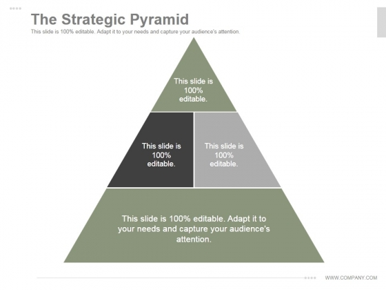 The Strategic Pyramid Ppt PowerPoint Presentation Background Image