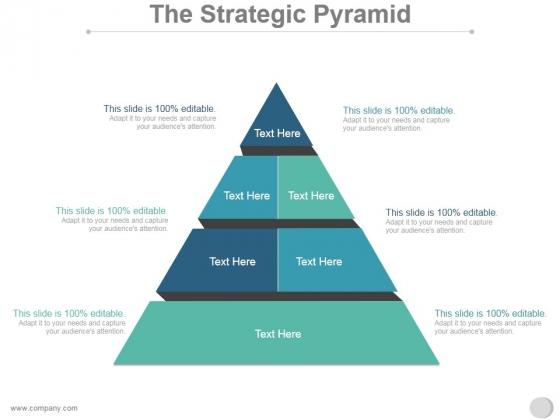 The Strategic Pyramid Ppt PowerPoint Presentation Styles