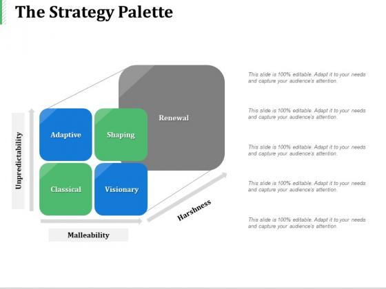The Strategy Palette Ppt PowerPoint Presentation Portfolio Inspiration