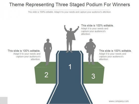 Theme Representing Three Staged Podium For Winners Ppt PowerPoint Presentation Outline