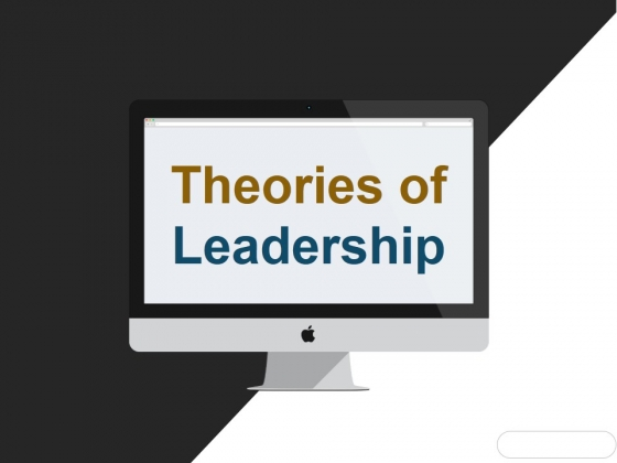 Theories Of Leadership Ppt PowerPoint Presentation File Grid