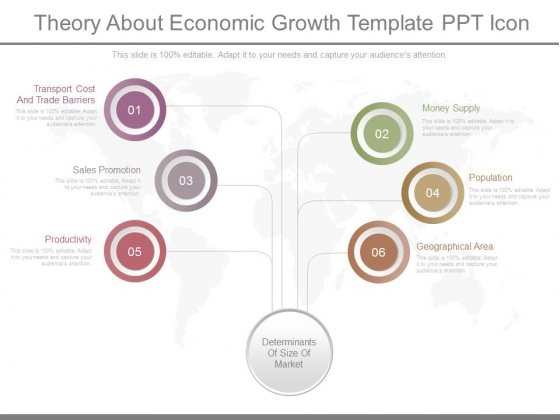 Theory About Economic Growth Template Ppt Icon