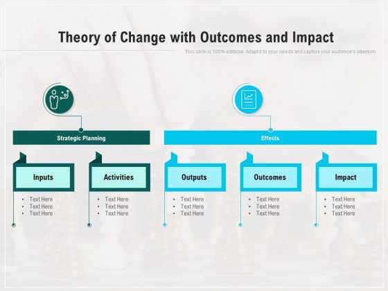 Theory Of Change With Outcomes And Impact Ppt Powerpoint Presentation Icon Graphic Images Pdf