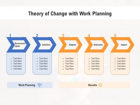 Theory Of Change With Work Planning Ppt Powerpoint Presentation Outline Format Ideas Pdf