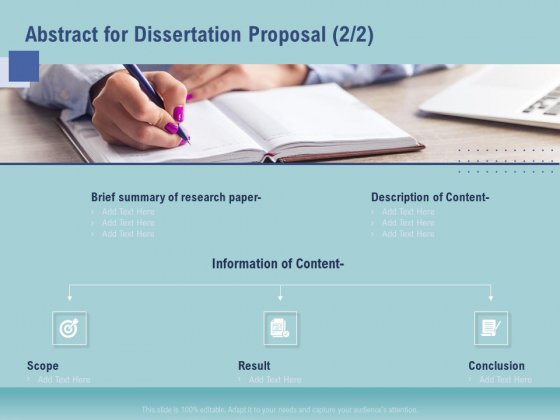 Thesis Abstract For Dissertation Proposal Conclusion Ppt Summary Designs Download PDF