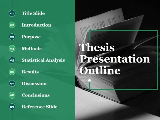 Thesis Presentation Outline Ppt PowerPoint Presentation Icon Microsoft