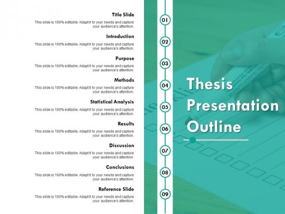 Thesis Presentation Outline Ppt PowerPoint Presentation Layouts Graphic Images
