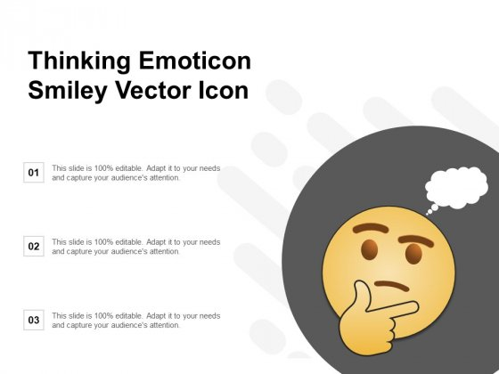 Thinking Emoticon Smiley Vector Icon Ppt PowerPoint Presentation Infographics Professional
