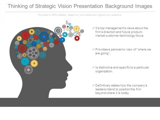 Thinking Of Strategic Vision Presentation Background Images
