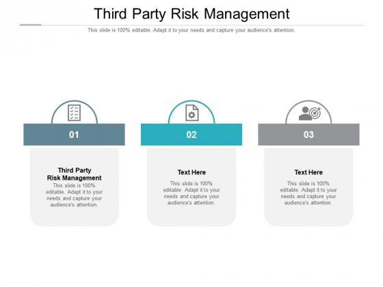 Third Party Risk Management Ppt PowerPoint Presentation Icon Vector Cpb Pdf