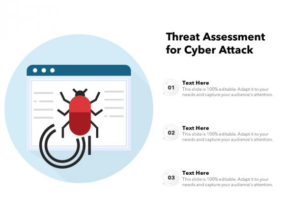 Threat Assessment For Cyber Attack Ppt PowerPoint Presentation File Sample PDF