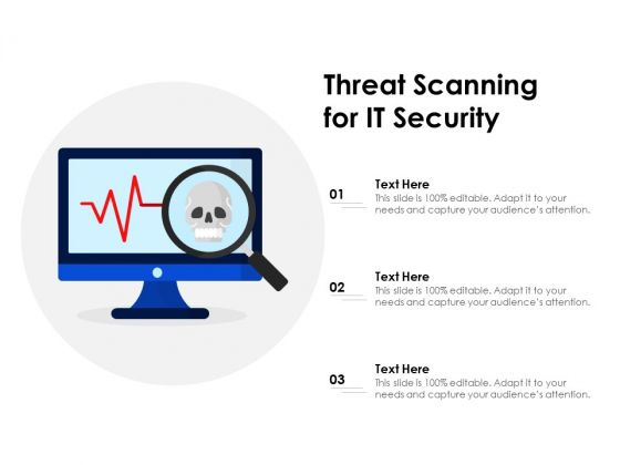 Threat Scanning For IT Security Ppt PowerPoint Presentation Gallery Smartart PDF