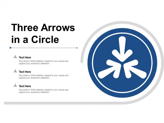 Three Arrows In A Circle Ppt Powerpoint Presentation Show Inspiration
