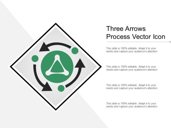 Three Arrows Process Vector Icon Ppt PowerPoint Presentation Inspiration Skills