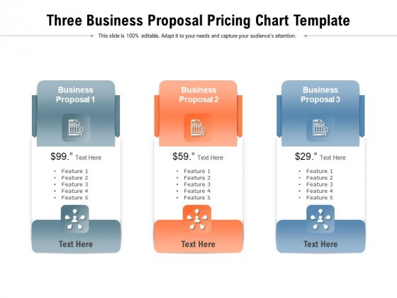 Three Business Proposal Pricing Chart Template Ppt PowerPoint Presentation Icon Skills PDF