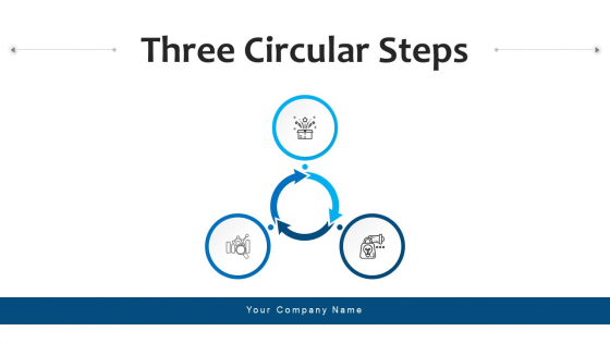 Three Circular Steps Process Financial Ppt PowerPoint Presentation Complete Deck