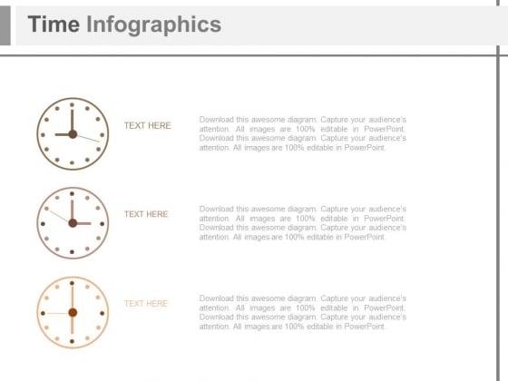 Three Clocks Business Agenda Diagram Powerpoint Slides