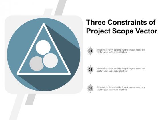 Three Constraints Of Project Scope Vector Ppt PowerPoint Presentation Portfolio Infographics