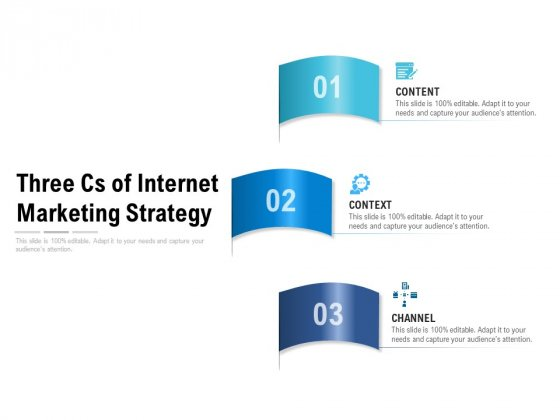 Three Cs Of Internet Marketing Strategy Ppt PowerPoint Presentation Pictures Show