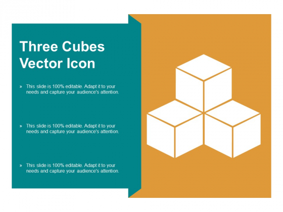 Three Cubes Vector Icon Ppt PowerPoint Presentation Professional Format Ideas