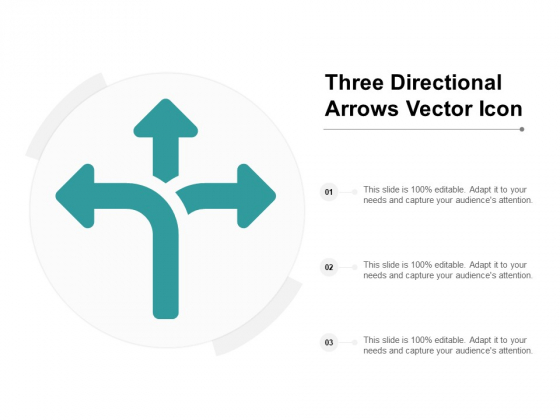 Three Directional Arrows Vector Icon Ppt PowerPoint Presentation Infographic Template File Formats