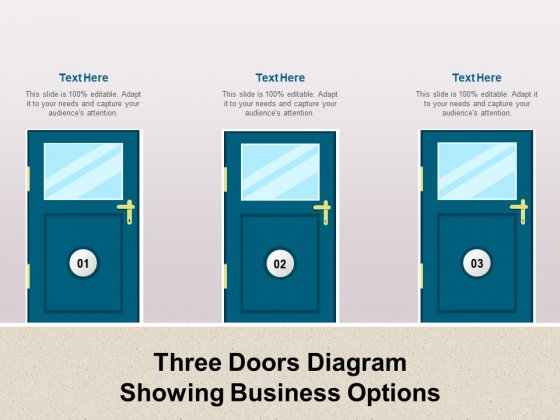 Three Doors Diagram Showing Business Options Ppt PowerPoint Presentation Icon Professional