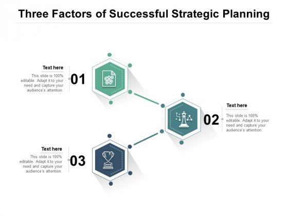 Three Factors Of Successful Strategic Planning Ppt PowerPoint Presentation File Microsoft PDF