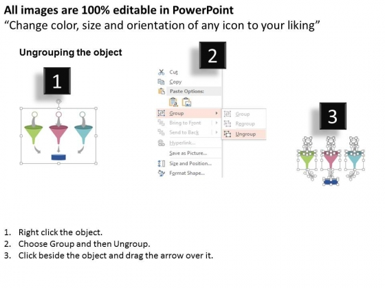 Three_Funnels_With_Arrows_For_Sorting_Data_Powerpoint_Template_2