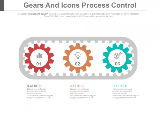 Three Gears Steps For Innovative Process Powerpoint Template