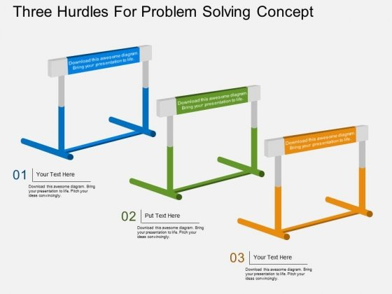 Three Hurdles For Problem Solving Concept Powerpoint Template