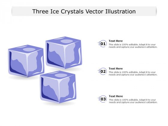 Three Ice Crystals Vector Illustration Ppt PowerPoint Presentation Gallery Summary PDF