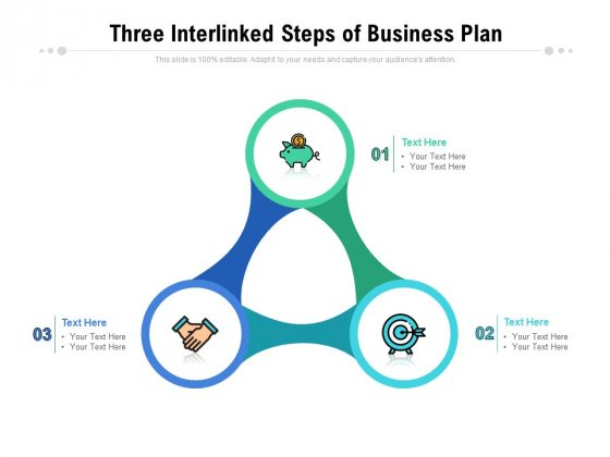 Three Interlinked Steps Of Business Plan Ppt PowerPoint Presentation Gallery Professional