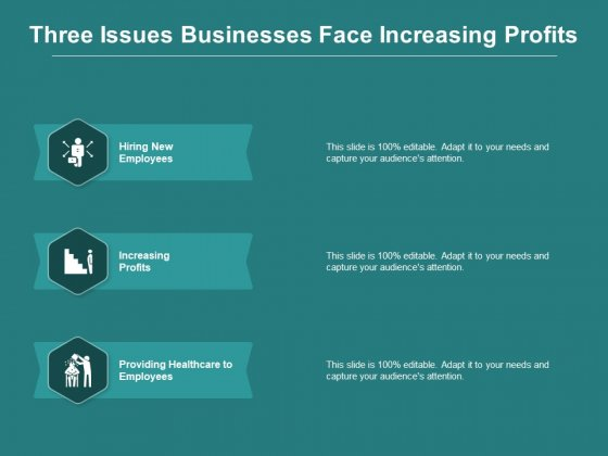 Three Issues Businesses Face Increasing Profits Ppt PowerPoint Presentation Gallery Information