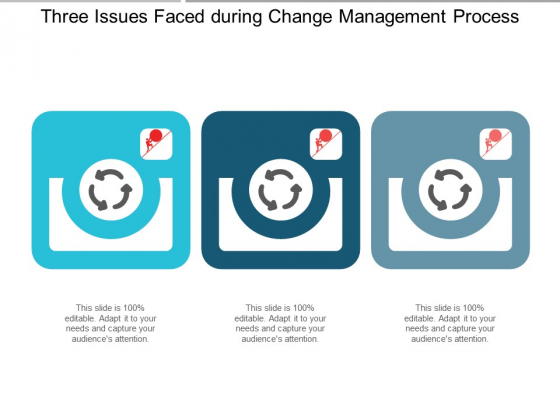 Three Issues Faced During Change Management Process Ppt PowerPoint Presentation Summary Graphic Images