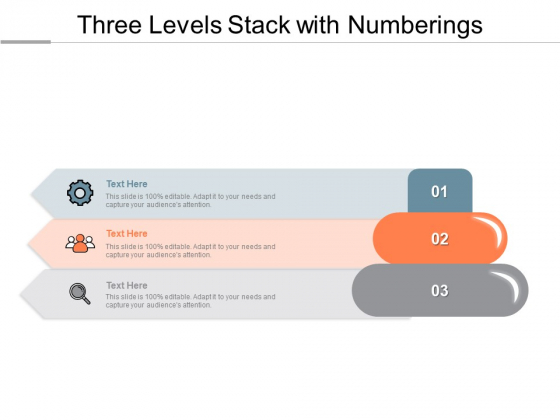 Three_Levels_Stack_With_Numberings_Ppt_PowerPoint_Presentation_File_Brochure_PDF_Slide_1