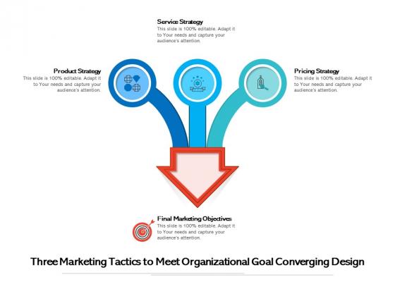 Three_Marketing_Tactics_To_Meet_Organizational_Goal_Converging_Design_Ppt_PowerPoint_Presentation_Model_Pictures_PDF_Slide_1